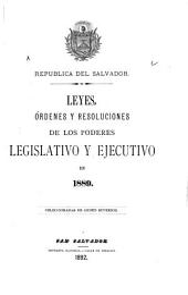 Leyes, órdenes y resoluciones de los poderes legislativo y ejecutivo en 1889