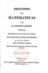 Principios de matemáticas: Volumen 3