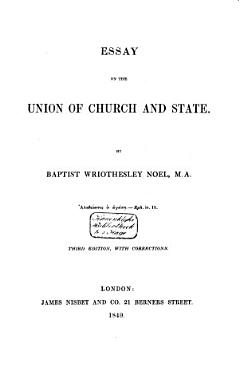 Essay on the Union of Church and State PDF