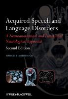 Acquired Speech and Language Disorders PDF
