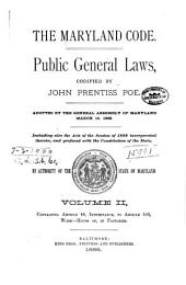 The Maryland Code: Public General Laws, Volume 2
