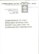 Comparison of two specimen shapes for short column test of corrugated fiberboard