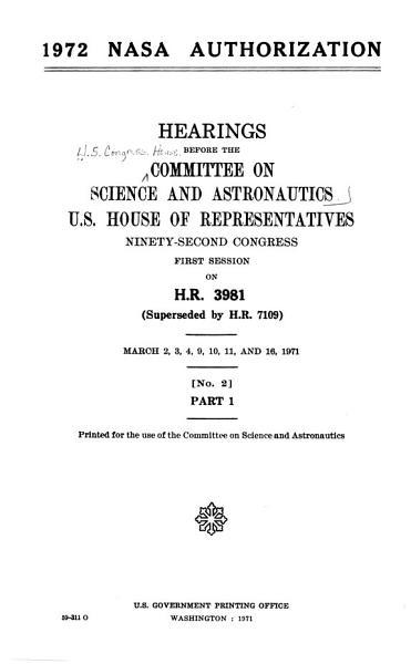 Download 1972 NASA Authorization Book