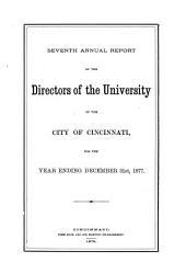 Annual Reports: Volume 7