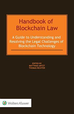 Handbook of Blockchain Law
