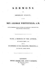 Sermons on important subjects     With a memoir of the Author by S  Drew  and a dissertation on his character  preaching  etc   by Joseph  or rather Josiah  Smith PDF