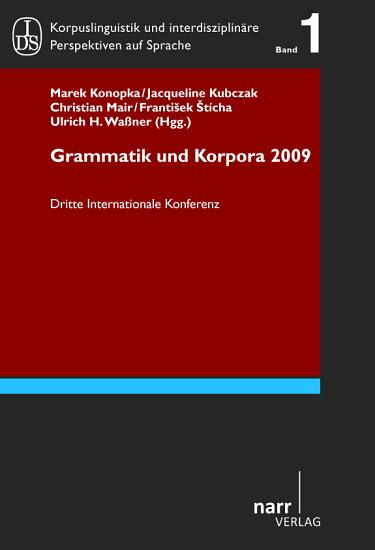Grammar   Corpora 2009 PDF