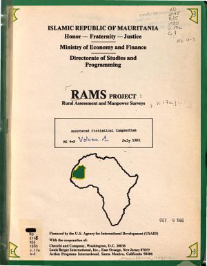 RAMS Project  AE  Agro economic studies