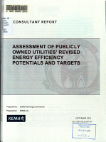 Assessment of Publicly Owned Utilities  Revised Energy Efficiency Potentials and Targets PDF