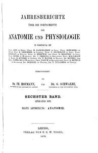 Jahresberichte   ber die Fortschritte der Anatomie und Physiologie PDF