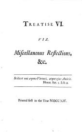 Miscellaneous reflections on the preceding treatises, and other critical subjects. A notion of the tablature, or judgment of Hercules