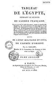 Tableau de l'Égypte pendant le séjour de l'armée française,...