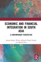 Economic and Financial Integration in South Asia PDF