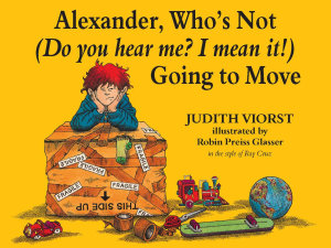 Alexander  Who s Not  Do You Hear Me  I Mean It   Going to Move Book