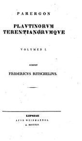 Parergon Plautinorum Terentianorumque