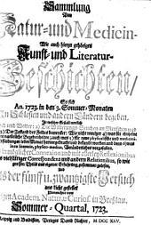 Sammlung von Natur- und Medicin- wie auch hierzu gehörigen Kunst- und Literatur-Geschichten so sich von 1717-26 in Schlesien und anderen Orten begeben ... und als Versuch ans Licht gestellet: Band 25