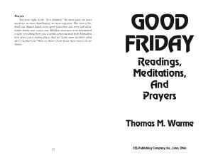 Good Friday Readings  Meditations  and Prayer