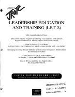 Leadership  Education  and Training PDF