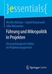 Führung und Mikropolitik in Projekten: Der psychologische Faktor im Projektmanagement