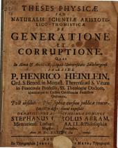 Theses phys. de generatione et corruptione