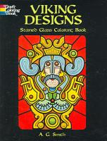 Viking Designs Stained Glass Coloring Book
