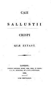 C. Sallustii Crispi quæ extant. [Edited by M. Maittaire.]
