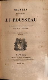 Oeuvres complètes de J. J. Rousseau: avec des éclaircissements et des notes historiques, Volume23