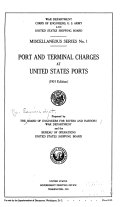 Download Port and Terminal Charges at United States Ports Book