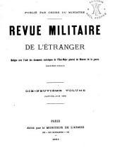 Revue militarie de l'étranger: Volume19