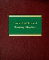 Lender Liability and Banking Litigation PDF