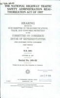 The National Highway Traffic Safety Administration Reauthorization Act of 1997 PDF