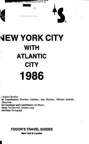Fodor s New York City with Atlantic City