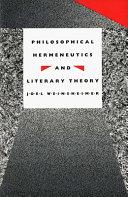 Philosophical Hermeneutics and Literary Theory