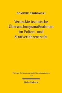 Verdeckte technische   berwachungsma  nahmen im Polizei  und Strafverfahrensrecht PDF