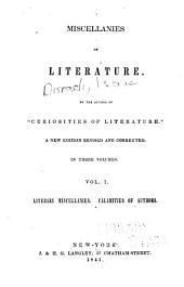 Literary miscellanies. Calamities of authors