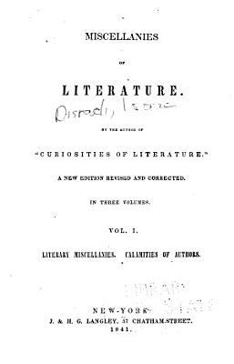 Literary miscellanies  Calamities of authors PDF