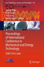 Proceedings of International Conference in Mechanical and Energy Technology PDF