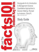 Studyguide for an Introduction to Management Science PDF