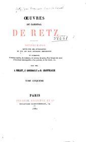 Œuvres du cardinal de Retz: Mémoires, troisème partie. Pamphlets, La conjuration du comte Jean-Louis de Fiesque. 1880
