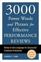 3000 Power Words and Phrases for Effective Performance Reviews PDF