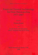 Essays in Classical Archaeology for Eleni Hatzivassiliou 1977-2007