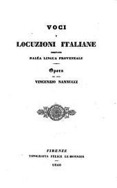 Voci e locuzioni italiane derivate dalla lingua provenzale