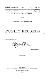 Report of the Commissioner of Public Records ...