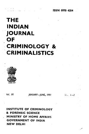 The Indian Journal of Criminology   Criminalistics PDF