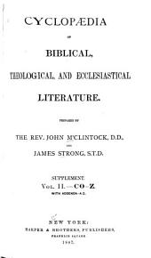 Cyclopedia of Biblical, Theological, and Ecclesiastical Literature: Supplement, Volume 2