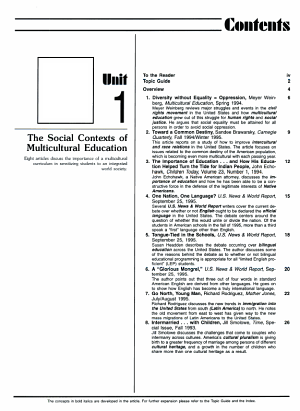 Multicultural Education, 1996-1997