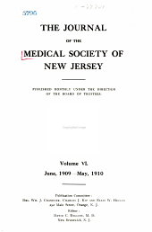 Journal of the Medical Society of New Jersey: Volume 6