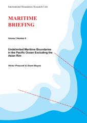 Undelimited Maritime Boundaries in the Pacific Ocean Excluding the Asian Rim
