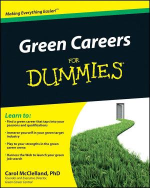 Green Careers For Dummies PDF