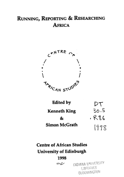 Running  Reporting   Researching Africa PDF